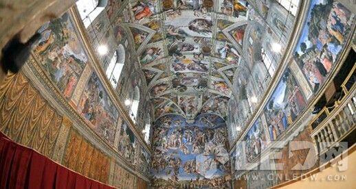 LED灯入主西斯廷教堂 30年第一次被点亮