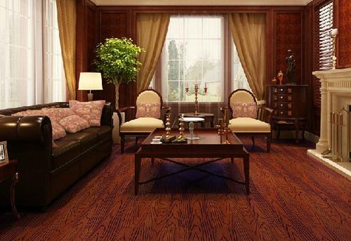红色代表着喜庆和欢乐。很多人购买家具的时候也喜欢和红色沾边,今天,中国著名木地板品牌的小编带来了五款木地板搭配案例,希望能为您带来家装时的灵感。 案例一:仿古木地板
