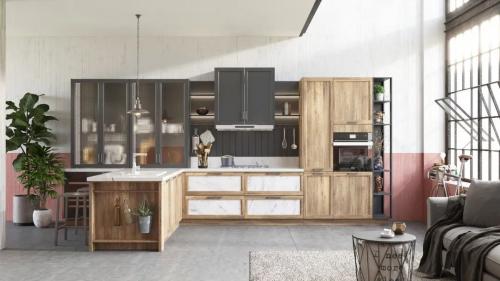 原木色设计的最佳选择 欧派橱柜新品罗纳来了