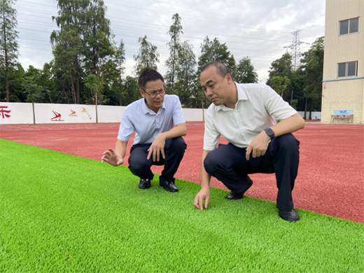 远洋体育参与改造地三角镇光明小学运动场正式投入使用